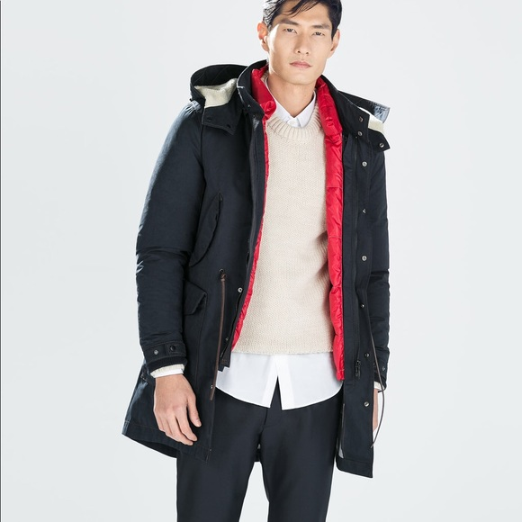 f72aa36b7 Zara Men's Winter Parka w/ detachable down puffer NWT